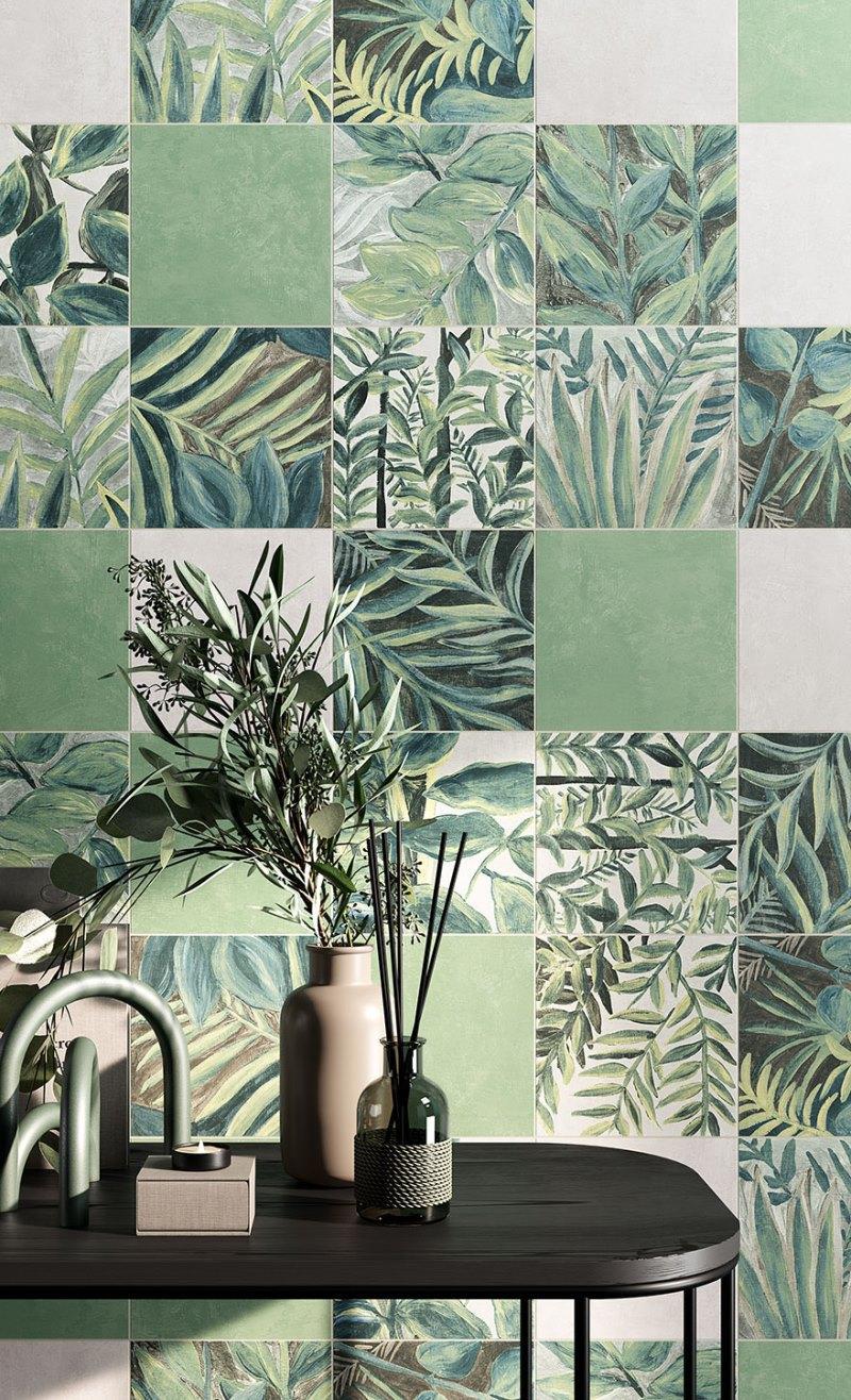 Ceramica-Fioranese_Fio.Clorofilla_Primavera-20x20_Selva-20x20_Nembo-20x20_Rugiada-20x20_rivestimento