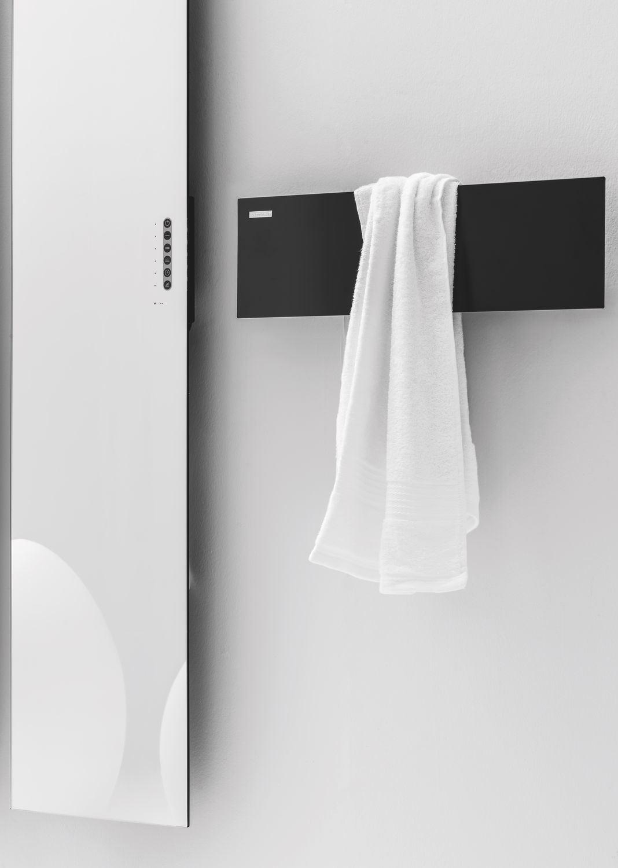 Electric radiator / aluminum / mirror / contemporary